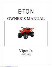 E-TON VIPER JR. (RXL-40) OWNER'S MANUAL Pdf Download   ManualsLibManualsLib