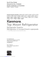 Kenmore 253.7882 Series Use & Care Manual