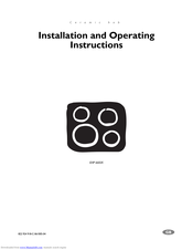 Electrolux U24254 EHP6602K Installation And Operating Instructions Manual