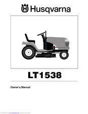 HUSQVARNA LT138 Owner's Manual