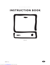 Electrolux ESF 245 Instruction Book