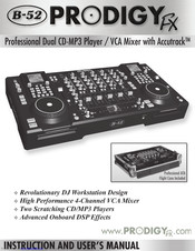 B-52 prodigy fx dj cd workstation   zzounds.