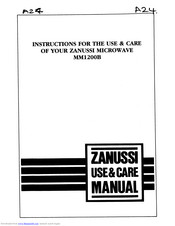 Zanussi MM1200B Instructions For The Use & Care