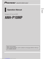 PIONEER ANH-P10MP Operation Manual
