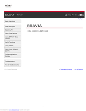 Sony BRAVIA KDL-32EX650 I-manual