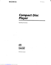 Sony CDP-CX205 Operating Instructions Manual