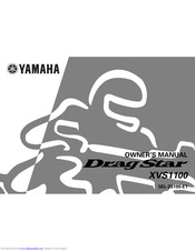 YAMAHA Drag Star XVS1100 Owner's Manual