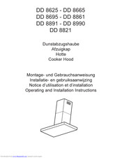 AEG DD 8821 Operating And Installation Instructions