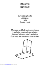 AEG DD 8390 Operating And Installation Manual