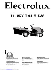 Electrolux 11, 5CV T 92 M EJA Instruction Manual