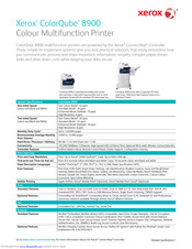 Xerox ColorQube 8900 series Specifications