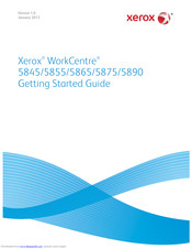Xerox WorkCentre 5855 Getting Started Manual