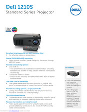 Dell 1210S - DLP Projector - 2500 ANSI Lumens Specifications