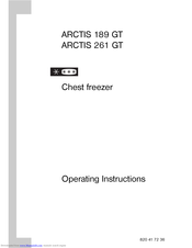 AEG ARCTIS 189 GT Operating Instructions Manual