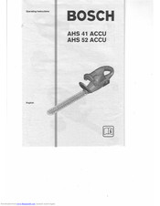 BOSCH AHS 52 ACCU Operating Instructions