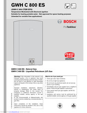 BOSCH GWH C 800 ES Installation Instructions Manual