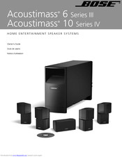 Bose Acoustimass 6 Series Iii Owner S Manual Pdf Download