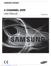SAMSUNG 4 CHANNEL DVR USER MANUAL Pdf Download | ManualsLibManualsLib