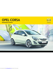 Vauxhall Corsa D Audio manual Operation Instructions CD 30-MP3 Touch and Connect