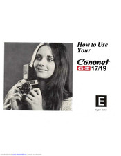 CANON Canonet G-III 17 How To Use Manual