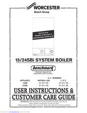 Bosch Worcester 15SBi User Instructions & Customer Care Manual
