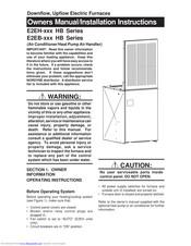 Nordyne E2EB-015-HB Manuals on