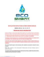 Ecosmart Eco 18 Manuals Manualslib