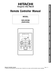 Hitachi SPX-RCDB Manual