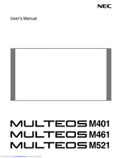 NEC MULTEOS M401 User Manual