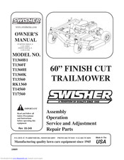 SWISHER T1360B1 OWNER'S MANUAL Pdf Download | ManualsLibManualsLib