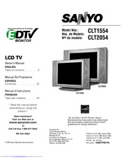 Sanyo CLT1554 EDTV Owner's Manual