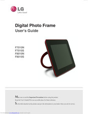 LG F7010N User Manual