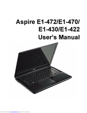 Acer Aspire E1-472 User Manual