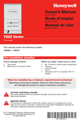 Honeywell T822K Owner's Manual