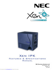 NEC XEN IPK DIGITAL TELEPHONE Features & Specifications  Manual