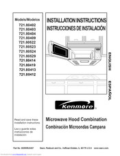 Kenmore 721.81622 Installation Instructions Manual