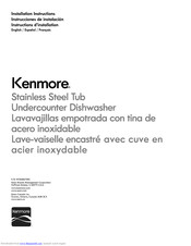Kenmore 66512762K310 Installation Instructions Manual