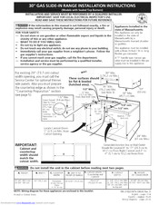 Kenmore 79036733701 Installation Instructions Manual