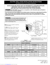 Frigidaire PLEB27S8CCB Installation Instructions Manual