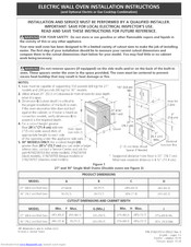 Frigidaire FEB30S6FCF Installation Instructions Manual