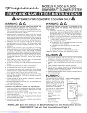 Frigidaire PL30DD Installation Instructions Manual