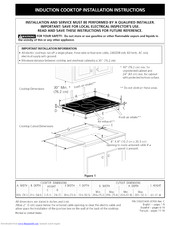 Electrolux E30IC75FSS1 Installation Instructions Manual