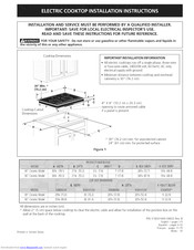 Electrolux EW30EC55GS1 Installation Instructions Manual