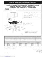 Electrolux E30EC70FSS1 Installation Instructions Manual