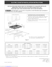 Electrolux E36EC65ESS2 Installation Instructions Manual