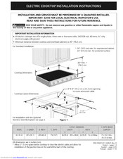 Electrolux E36EC75ESS2 Installation Instructions Manual