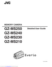 JVC Everio GZ-MS210 User Manual