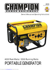 CHAMPION 40010 OWNER'S MANUAL AND OPERATING INSTRUCTIONS Pdf Download |  ManualsLib