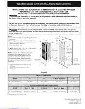 Electrolux E30EW8CESS1 Installation Instructions Manual