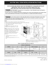 Electrolux E30EW85GSS5 Installation Instructions Manual